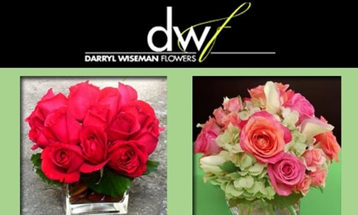 Darryl Wiseman Flowers - Lindridge - Martin Manor: $59 for a Rose or Mixed Flower Arrangement From Darryl Wiseman Flowers (Up to $95 Value)