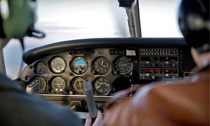 Northampton Airport - Northampton: $99 for a Flying-Lesson Package with Ground, Simulator, and Plane Instruction at Northampton Airport ($198.95 Value)