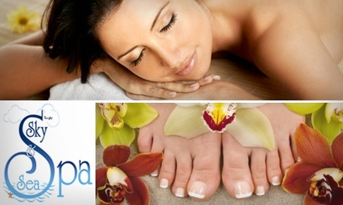 Sky & Sea Spa - Kendall: $49 for Your Choice of Massage, Facial, or Two Mani-Pedis at Sky & Sea Spa (Up to $105 Value)