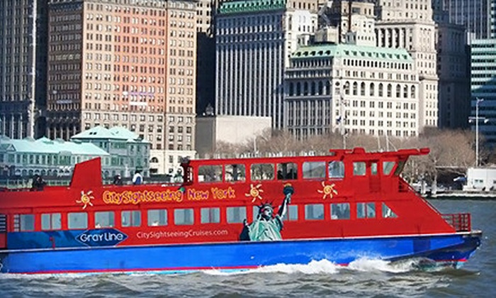 CitySights NY - Pier 78 - Hop-On/Hop-Off Cruise Only : Three-Hour New Year's Eve Cruise or 1.5-Hour Midtown Cruise from Gray Line New York (Up to 52% Off)