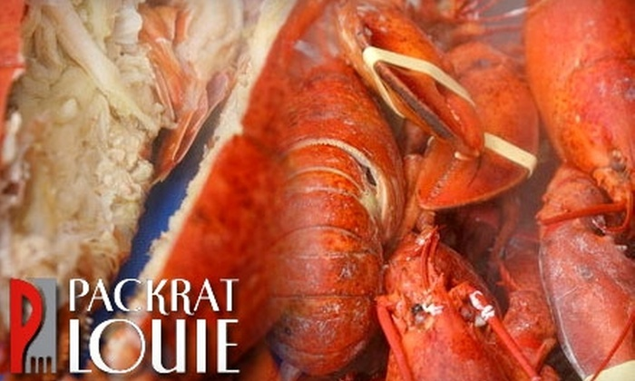 Packrat Louie Restaurant - Edmonton: $10 for $20 Worth of Lunch and Drinks or $20 for $40 Worth of Dinner and Drinks at Packrat Louie Restaurant