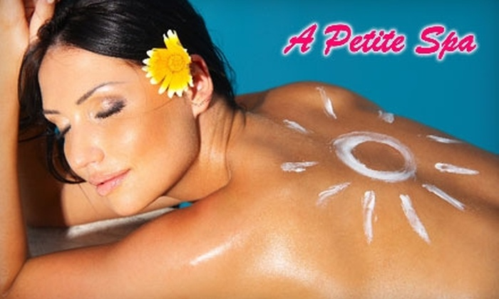 A Petite Spa - Highland Park: $59 for a 90-Minute Custom Facial ($130 Value) or $20 for Professional Spray Tanning ($40 Value) at A Petite Spa