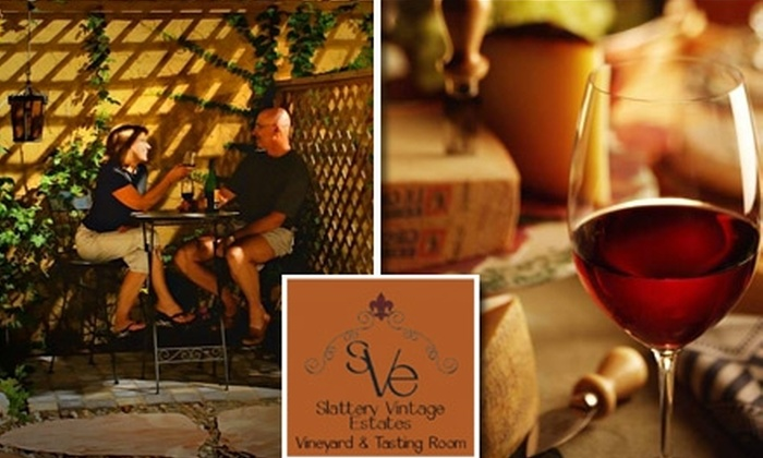 Slattery Vintage Estates - Nehawka: $15 for an After-Hours Wine Tasting, Wine 101 Class, and Take-Home Glass at Slattery Vintage Estates ($45.50 Value)