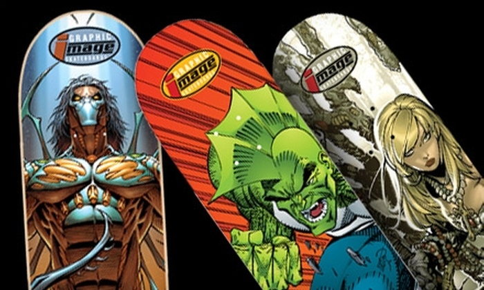 Graphic Image Skateboards: $25 for a Graphic Design Skateboard Deck from Graphic Image Skateboards ($49.99 Value)