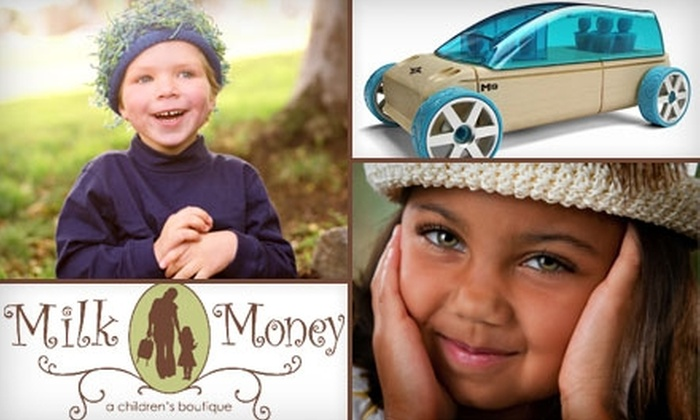 Milk Money Boutique - Brookdale: $20 for $45 Worth of Children's Clothing, Accessories, Toys, and More at Milk Money Boutique