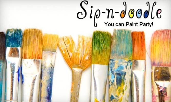 Sip-n-Doodle - Downtown Mckinney: Painting Class at Sip-n-Doodle in McKinney. Two Options Available.