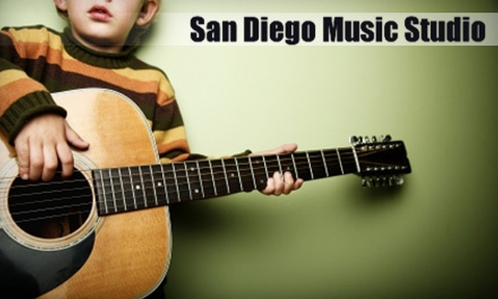 San Diego Music Studio - San Marcos: $39 for Four Weekly Music Lessons at San Diego Music Studio in San Marcos ($85 Value)