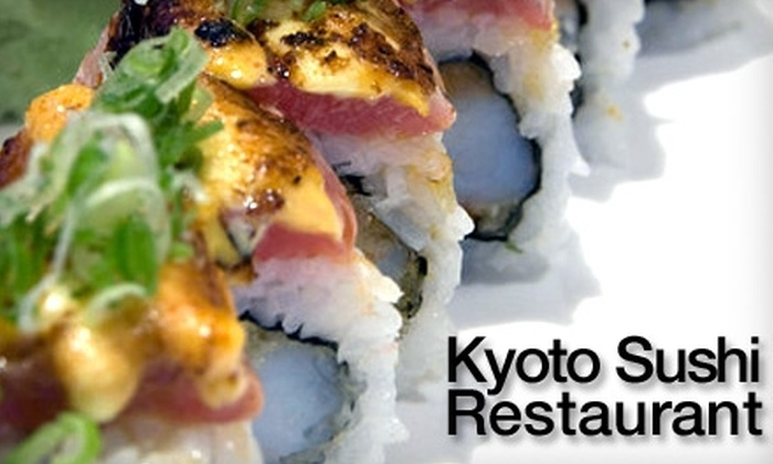Kyoto Sushi Restaurant - DePaul: $15 for Up to $30 Worth of Sushi at Kyoto Sushi Restaurant ($35 if Redeemed Tuesday–Thursday)