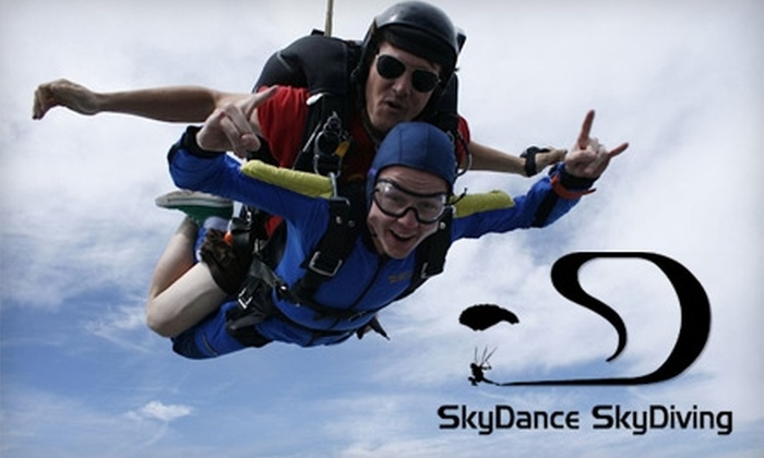SkyDance SkyDiving - Davis: $99 Tandem Skydiving with an Instructor at SkyDance SkyDiving