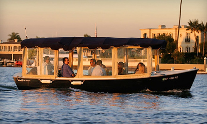 Newport Fun Tours - Newport Beach: $65 for Electric-Boat Rental for Up to Eight at Newport Fun Tours in Newport Beach ($135 Value)