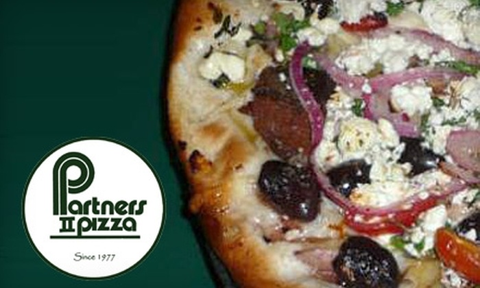 Partners II Pizza - Multiple Locations: $7 for $15 Worth of Gourmet Pizza and More at Partners II Pizza