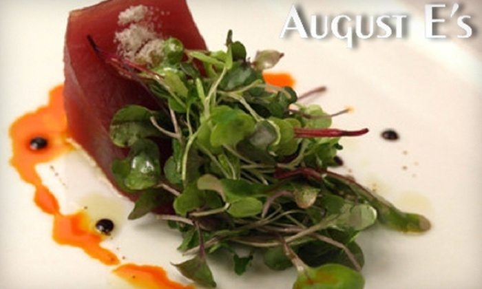 August E's - Fredericksburg: $30 for $60 Worth of Nouveau Texas Cuisine at August E's in Fredericksburg
