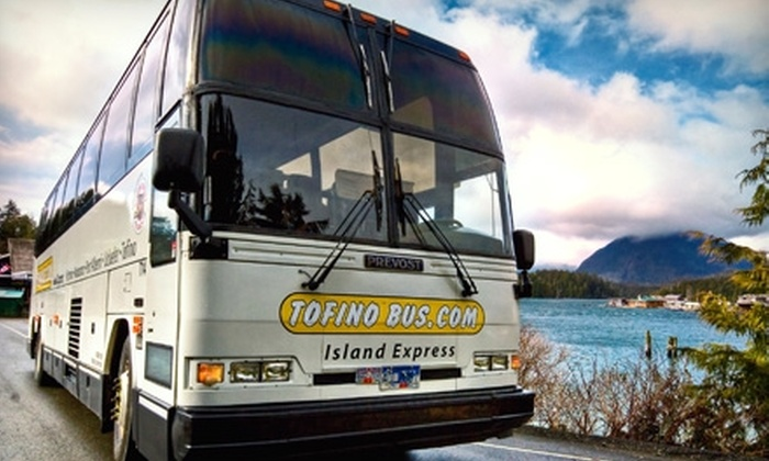 Tofino Bus: $89 for Round-Trip Bus Fare for Two to Tofino on Tofino Bus ($179.20 Value)