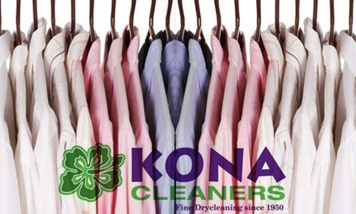 Kona Cleaners - Multiple Locations: $9 for $20 worth of Pick-Up or Drop-Off Dry Cleaning from Kona Cleaners