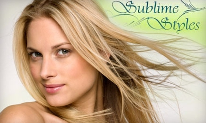 Sublime Styles - Sutherland: $79 for the Pampering Package at Sublime Styles