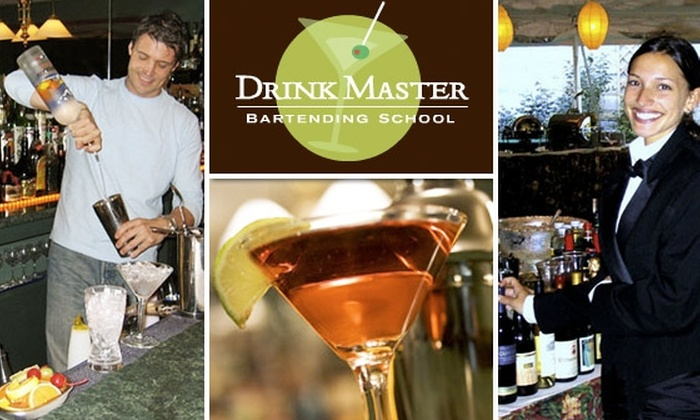 Drinkmaster Bartending School - Downtown: Enroll in the Master Bartending Program at DrinkMaster Bartending School