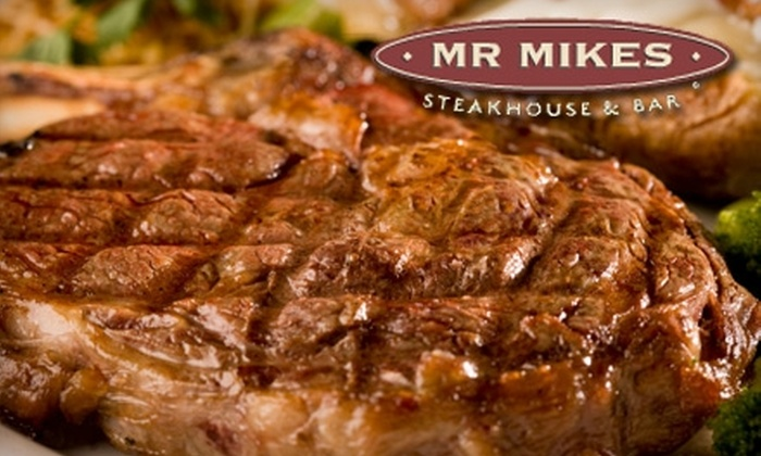 Mr. Mikes Steakhouse & Bar - Mission: $15 for $30 Worth of Hearty West Coast Eats and Drinks at Mr. Mikes Steakhouse & Bar