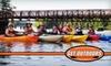Get Outdoors - Greensboro: 24-Hour Kayak or Canoe Rental from Get:Outdoors. Choose Between Single Kayak, Tandem Kayak, or Canoe Rental (Up to $40 Value).