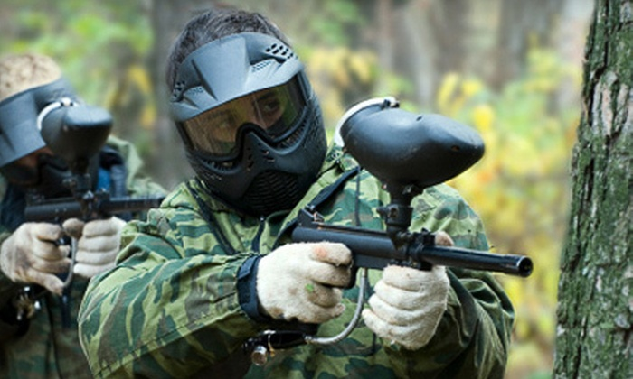 Fox Paintball - Fox: Paintball Outing with Admission, Equipment, and Paintballs for Two or Four at Fox Paintball in Newark (Up to 69% Off)