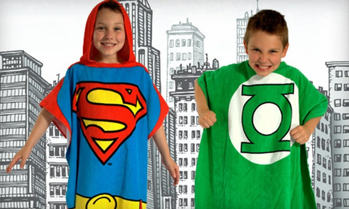 Superhero Bath Wrap: $19 for a DC Comics Originals Green Lantern or Superman Bath Wrap Poncho for Boys or Toddlers. Shipping Included ($40 Value).