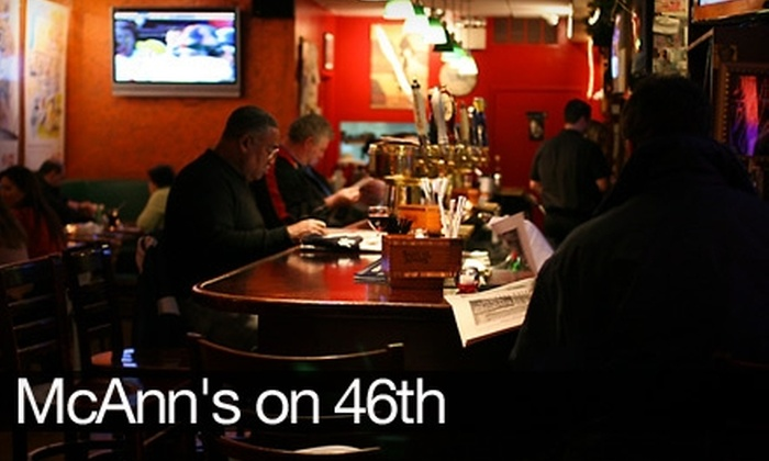 McAnn's on 46th - Midtown Center: $10 for $20 Worth of Bar and Grill Fare and Drinks at McAnn's on 46th