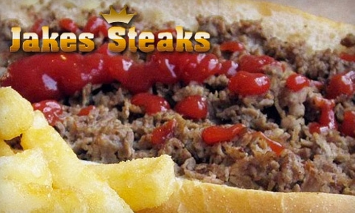 Jake's Steaks - Londontowne: $6 for $12 Worth of Philly Cheesesteaks and More at Jake's Steaks in Edgewater