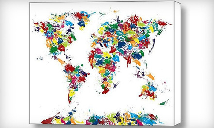 45 for a michael tompsett world map print groupon 45 for a michael tompsett world map print gumiabroncs Choice Image