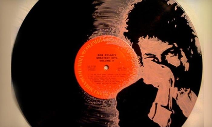 GET Broken Record: $99 for Framed, Hand-Painted Record Art from Get Broken Record ($205 Value)