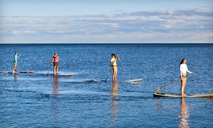 SUPGirlz - The Beaches: $39 for a 90-Minute Introductory Stand-Up Paddleboarding Lesson from SUPGirlz ($80 Value)