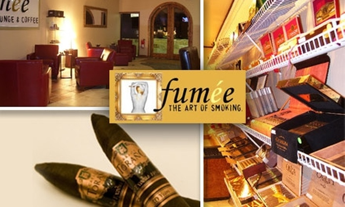 Fumée Cigar Lounge - Riviera Springs: $10 for $20 Worth of Fine Cigars and Café Fare at Fumée Cigar Lounge