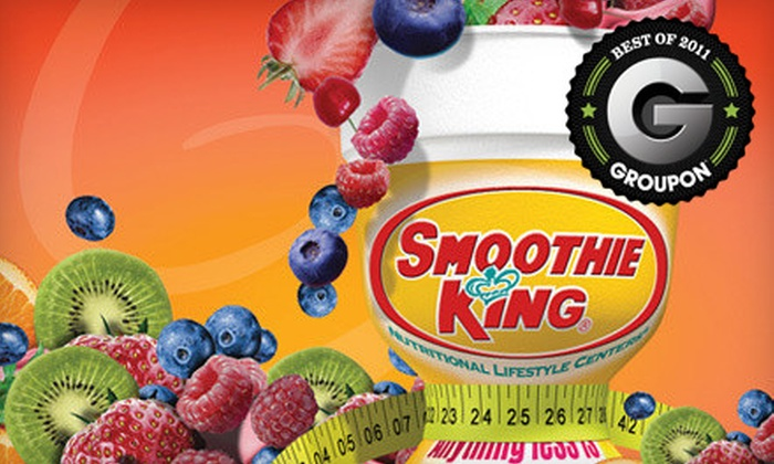 Smoothie King - Jackson: Two or Five 20-Ounce Smoothies at Smoothie King in Canton (Up to 60% Off)