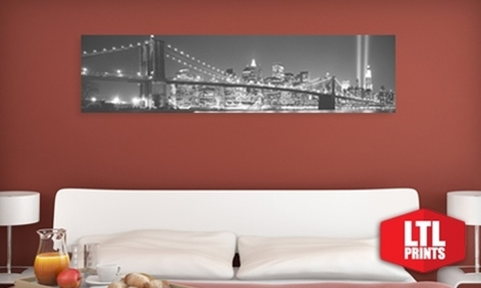 "Larger Than Life Prints: $35 for a ""Big Wall Graphic"" Panoramic Wall Mural from Larger Than Life Prints ($96.70 Value)"