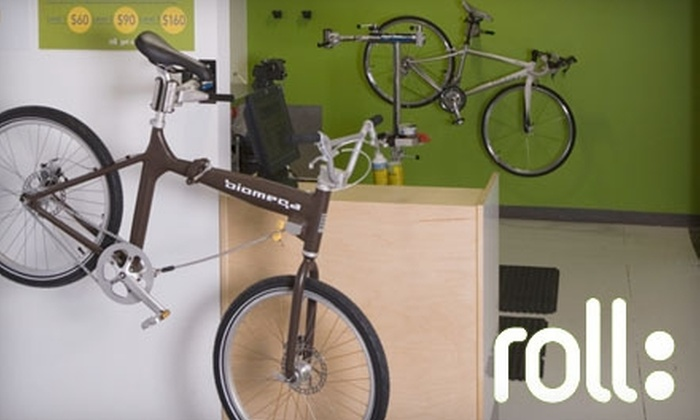 roll: - Multiple Locations: $30 for Basic Bicycle Tune-Up and Perfect-Fit Adjustment at roll: ($59 Value). Choose from Three Locations.