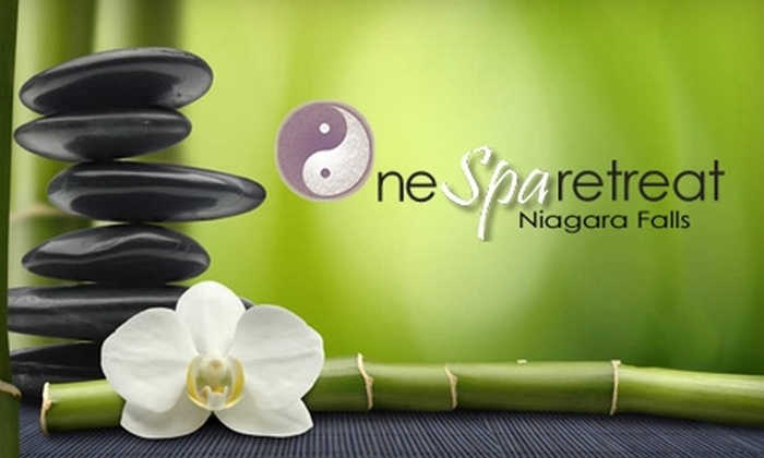 OneSpaRetreat - Niagara Falls: $39 for a Hand-and-Foot Scrub, Mani-Pedi, and Aromatherapy Steam Treatment at OneSpaRetreat ($200 Value)