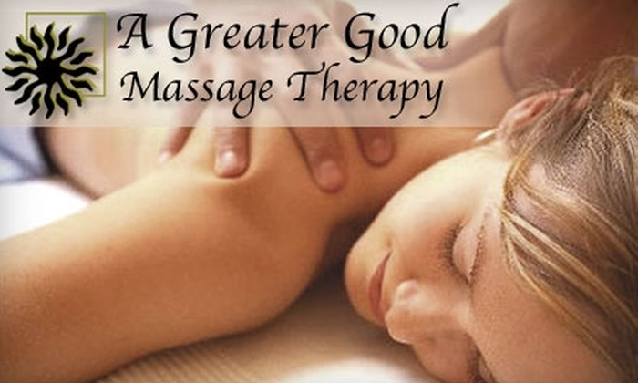 A Greater Good Massage Therapy - Culler: $29 for a One-Hour Massage at A Greater Good Massage Therapy ($65 Value)