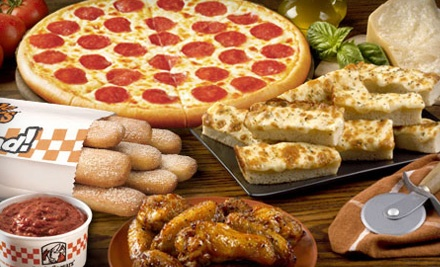 2 Large Hot-N-Ready 1-Topping Pizzas, 8 Wings, Crazy Bread, Crazy Sauce, and a 2-Liter Soda (a $21.21 total value) - Little Caesars in Toledo
