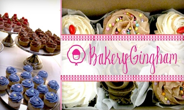 Bakery Gingham - Multiple Locations: $15 for One Dozen Cupcakes at Bakery Gingham
