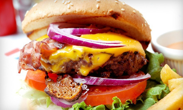 Fast Eddie's Burgers - Sun Meadow: American and Greek Fare for Two or Four or More at Fast Eddie's Burgers (Half Off)