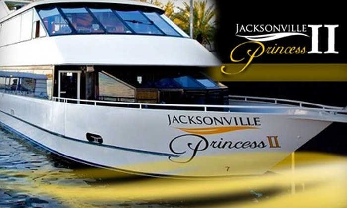"""Jacksonville Princess Cruise - Southside: $15 for a 90-Minute Cocktail Cruise on the """"Jacksonville Princess II"""" ($30 Value). Choose from Five Time Slots."""