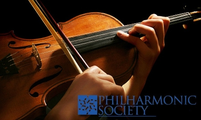 Philharmonic Society of Orange County - Multiple Locations: $25 for Ticket to Philharmonic Society of Orange County (Up to $75 Value). Five Options Available.