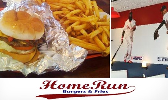 Home Run Burgers & Fries - Multiple Locations: $5 for $10 Worth of Burgers and Fries at Home Run Burgers & Fries