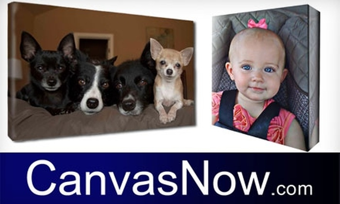 """CanvasNow.com - Tulsa: $45 To Turn Any Photo Into a 16"""" x 20"""" x 1.5"""" Gallery-Wrapped Canvas from CanvasNow.com ($126.95 Value)"""