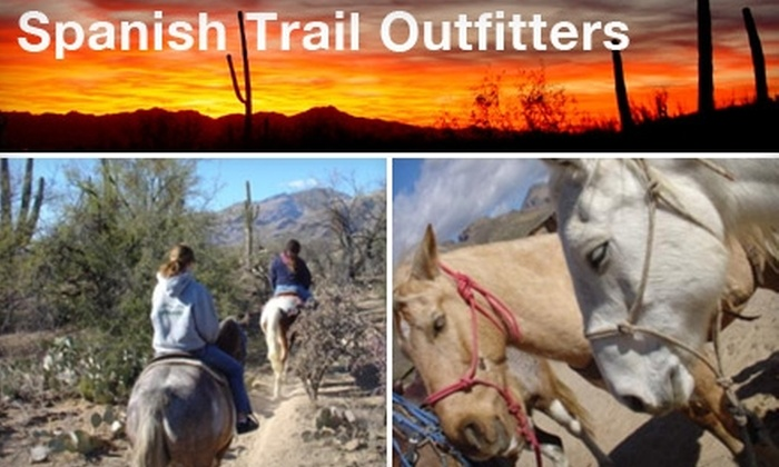 Spanish Trail Outfitters - Tucson: $25 for a Sunset Sonoran Desert Horseback Ride from Spanish Trail Outfitters ($50 Value)