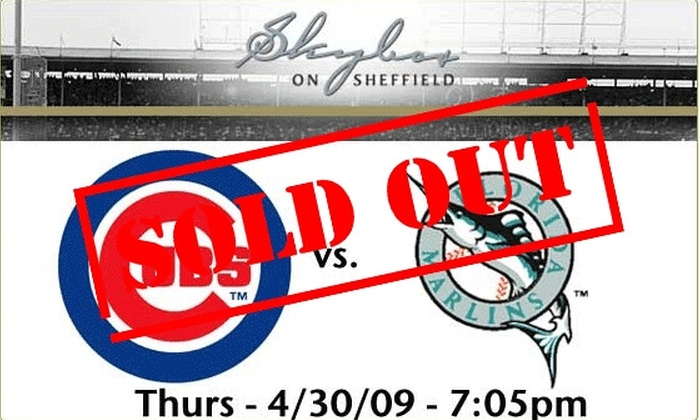 Skybox on Sheffield - Lakeview: Rooftop Tickets - Cubs vs Marlins - $59