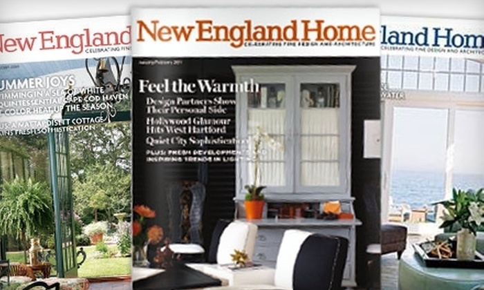 """""""New England Home"""" Magazine: $10 for One-Year Subscription to """"New England Home"""" Magazine ($19.95 Value)"""