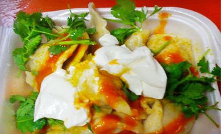 Dumpling Meal for 2 Including 2 Soft Drinks ($1.50 value ea), 2 Plates of Beef or Potato Dumplings ($8 value ea) & 2 Ice-Cream Sandwiches ($1.50 value ea; $22 total value) - Nane's Pelmenis in Anchorage