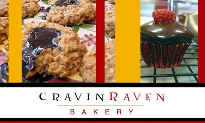 Cravin' Raven Bakery - Sellwood - Moreland Improvement League: $5 for $10 Worth of Gourmet Cookies, Cupcakes, Muffins, and More from Cravin' Raven Bakery