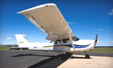 1-Hour of Ground School and In-Flight Training Toward Private Pilot Certification for a Student 12 and Up (a $220 value) - Charleston Flight Services, LLC in Johns Island