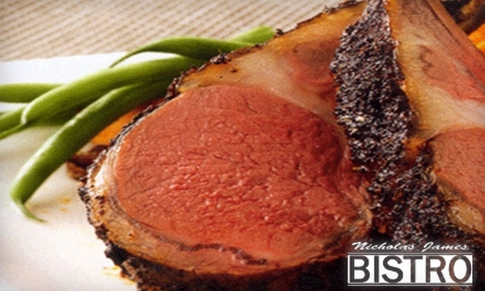 Nicholas James Bistro - Merrick: $25 for $50 Worth of Seasonal American Fare at Nicholas James Bistro (or $12 for $24 Worth of Lunch)