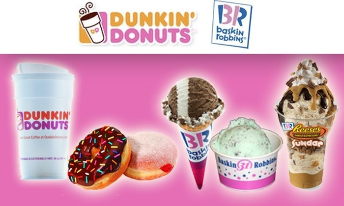 Dunkin' Donuts Baskin-Robbins - Dallas: $10 for $20 Worth of Coffee, Ice Cream, and More at Dunkin' Donuts and Baskin-Robbins